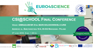 Euro4Science Final conf image